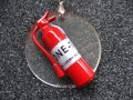 """""""Never without my extinguisher"""" great resin pendant"""