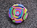 Grande bague pop multicolore en fimo